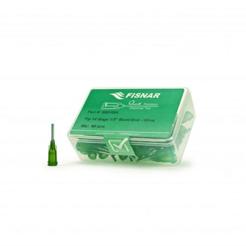 """Fisnar 14ga Olive 1/2"""" Blunt End Tip - 50 Pack"""