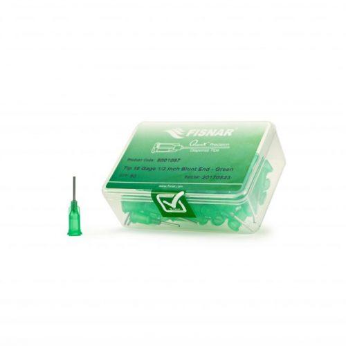 "18 Gauge Green ½"" Blunt End Epoxy Seal Tip – 50 Pack"