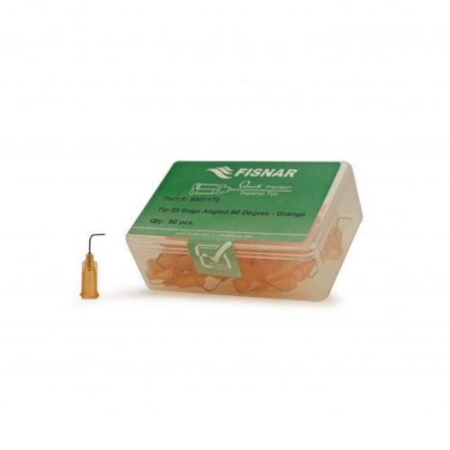 """Fisnar 23ga Orange 0.5"""" 90 Blunt End Tip - 50 Pack"""