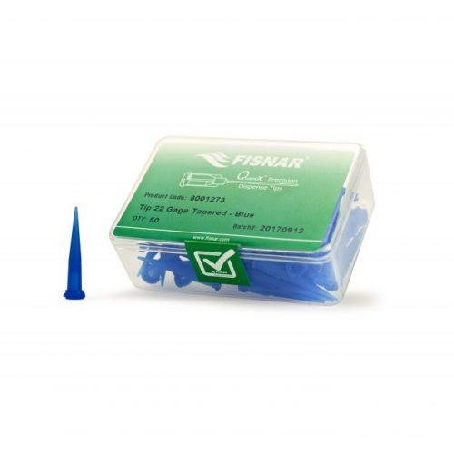 """Fisnar 22ga Blue 0.016"""" I.D. Tapered Tip - 50 Pack"""